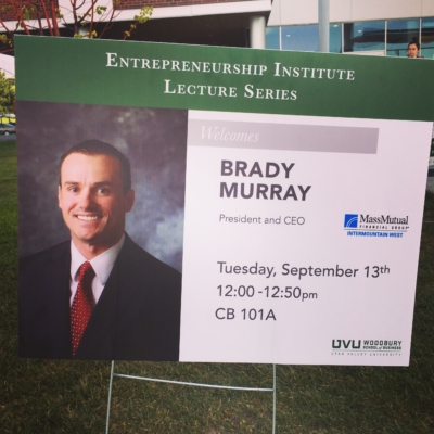 UVU: Entrepreneurship Lecture – Brady Murray