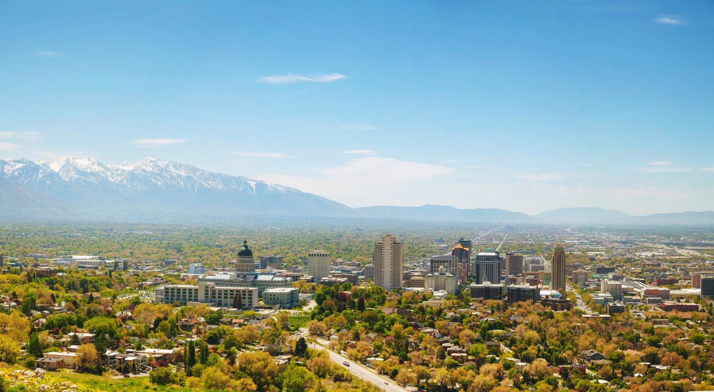 Salt Lake City Utah in Summer
