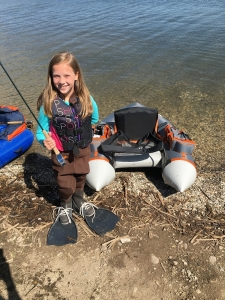 Daughter ready to fish