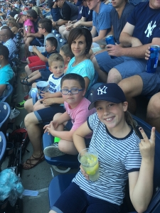 Enjoying the baseball game