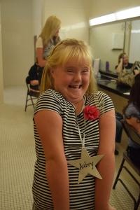 Aubry smiling