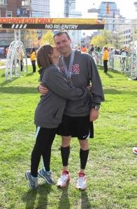 Brady and wife- finish